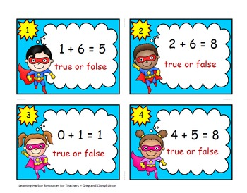 Adding to 10 Super Hero True or False