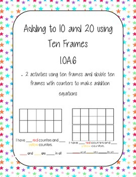 Adding to 10 and 20 using Ten Frames