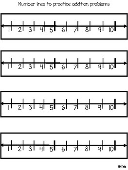 Adding to 10 using Number Lines { December /Addition }