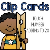 Adding to 20 Clip Cards:  Touch Math