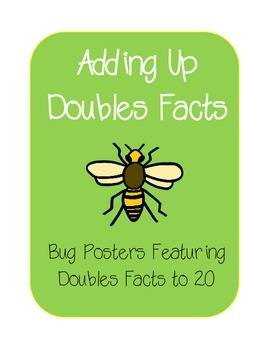 Adding to 20 Doubles Facts Bug Posters