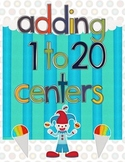 Adding to 20 and Adding 3 Digits Math Centers