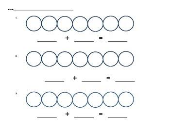 Adding to 7 math mat