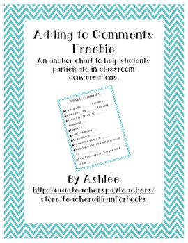 Adding to Comments Freebie