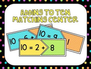Adding to Make Ten Center