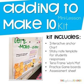 Adding to Make Ten Mini Lesson Kit