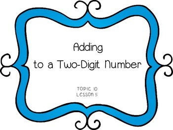 Adding Ones to a Two-Digit Number  - First Grade enVision Math