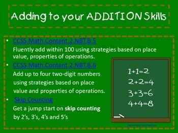 Adding to your ADDITION Skills
