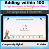 Adding two digit numbers Column regrouping carrying Digita