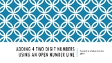 Adding up to Four 2-Digit Using a Number Line