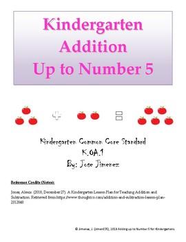 Adding up to Number 5 for Kindergartners