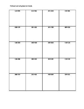 Adding using Base Ten blocks
