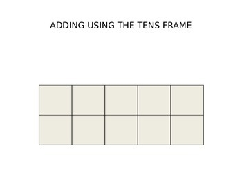 Adding using the tens frame