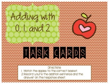 Adding with 0, 1, and 2 Task Cards