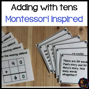 Montessori math: Adding with 10s Golden Beads and Stamp Game