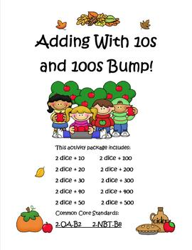 Adding with 10s and 100s BUMP SMART notebook and PDF