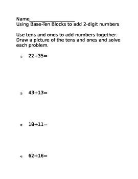 Adding with Base-Ten Blocks
