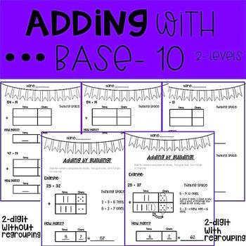 Adding with Base Ten Blocks- 2 digits