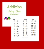 Adding with Dice Worksheet