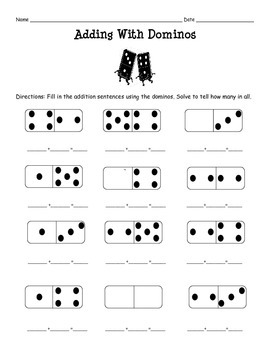 Adding with Dominos Set