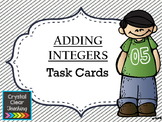 Adding with Integers Task Cards