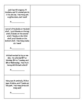 Adding with Multiple Addends *Word Problems* (1.OA.A2)