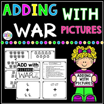 Adding with Pictures War Math Game
