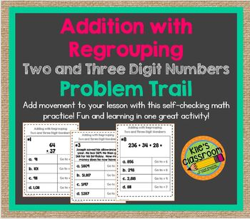 Adding with Regrouping - Two and Three Digit Numbers  Prob