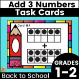 Adding with Ten Frames - Task Cards - Grades K-2