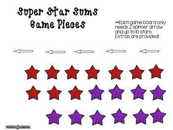 Adding with Tens Frames Math Center--Super Star Sums