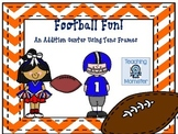 Adding with Tens Frames Math Center--Football Fun!