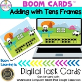 Adding with Tens Frames  to 20 Boom Cards