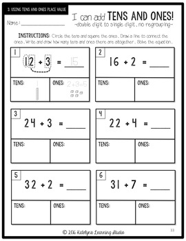 Adding with Tens and Ones Unit: Introduction to Regrouping