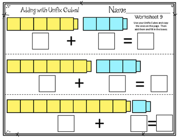 Adding with Linking Cubes Addition Worksheets ...