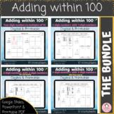 Adding within 100 Digital and Printable Worksheets Bundle Google Slides PPT PDF