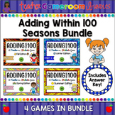Adding within 100 Seasons Powerpoint Game Bundle