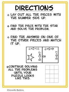Adding within 20 Math Center