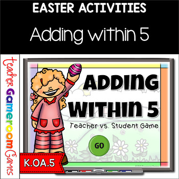 Adding within 5 - Easter Edition PPT Game