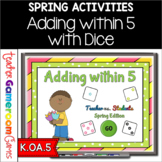 Adding within 5 Spring Powerpoint Game