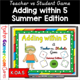 Adding within 5 - Summer Edition PPT Game