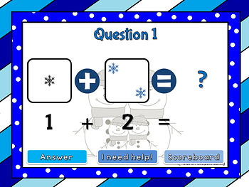 Adding within 5 - Winter Edition PPT Game