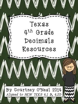 TX 4th Decimals Resources Pack - new TEKS!