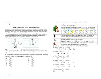Adding&Subtracting Similar&Dissimilar Fractions bklt