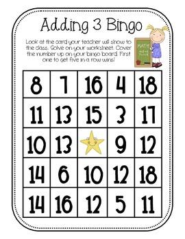 Adding 3 Bingo