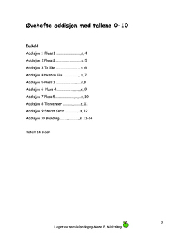 Addisjon 1 Tallene 0-10