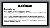 Addisjon - brettekort - samlepakke