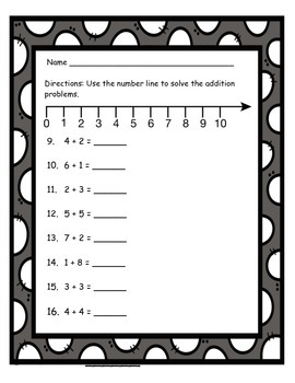 Addition with a Number Line