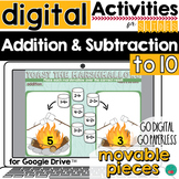 Additio and Subtraction to 10 for Google Classroom Activit
