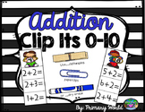Addition Centers 0-10 Clip It
