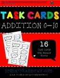 Addition 0-10 Task Cards (kindergarten, first grade)